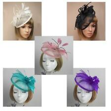 Elegant Feather Fascinator Hat Headband Cocktail Wedding Party Headpiece