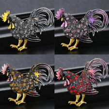 Fashion Chicken Crystal Rhinestone Brooch Pin Women Wedding Bridal Hot Jewelry
