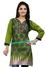Designer Indian Bollywood kurta kurti  ethnic top  womens Pakistani tunic silk