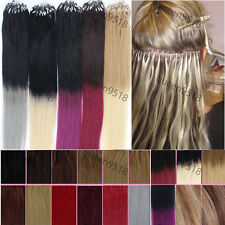 """Easy Loop Micro Ring Bead Ombre Hair Remy Human Hair Extensions Straight 16-26"""""""