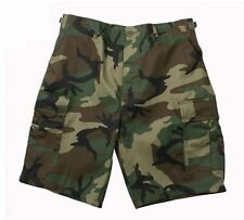 Men's WOODLAND CAMOFLAGE BDU Combat  ARMY MILITARY Shorts  BY Rothco XS TO 4X