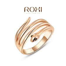 Fashion snake shape Jewelry 18K Rose Gold Plated Ring For Xmas Party Gift New