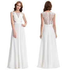 Stock NEW Long Chiffon Bridesmaid Evening Formal Party Cocktail Dress Prom Gown
