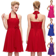 Free Ship Summer Halter Formal Party Evening Bridesmaid Cocktail Dresses Prom GK