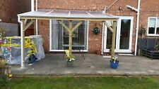 Polycarbonate 10mm Carport, Lean-to roof complete with 1045mm wide sheet & trims