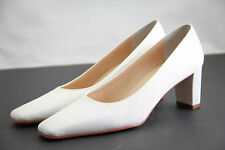 New Nina White Dyeable Heels White Shoes Womens Sz 5 7 M Bridal Square Toe Dye