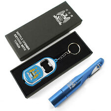Manchester City FC Official Football Gift Torch Keyring Bottle Opener