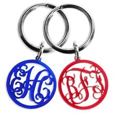 Personalized Monogram Keyring - new gift, key ring charm, perfect size keychain