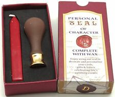 Classic Personal Seal Gift set - Ceramic Seal with 1 wicked sealing wax