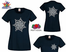 """Henna Tattoo FRUIT OF THE LOOM T-Shirt """"Lady Fit Valueweight T"""" Flexo printing"""