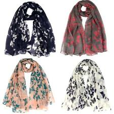Infinity Scarf Women's Butterfly Voile Scarf Long Wraps Shawl Stole Soft Scarves