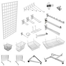 GRID-WALL GRIDWALL MESH CHROME RETAIL SHOP DISPLAY PANEL ACCESSORY HOOK ARMS