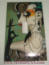 Artist Smoking Lady Light Switch Duplex Outlet Cover Plate Home decor
