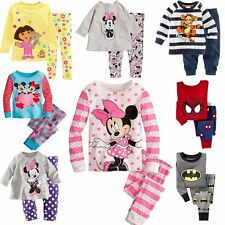 Minnie Mickey Batman Kids Boys Girls Nightwear Pajamas Pyjamas Sleepwear Suit