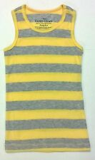 Girls Faded Glory Tank Top Rib Knit Yellow And Gray Striped