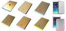 APPLE IPAD AIR 2 TRANSPARENT ACRYLIC CRYSTAL CLEAR BACK COVER CASE TPU COLOR RIM