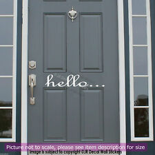 Hello front door Home Shop Office Greeting Quote Wall Sticker vinyl Decal Sign