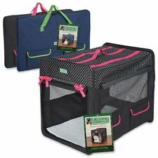 Cruising Companion Polka Dot Collapsible Dog Pet Cat Crate/Carrier