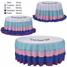 """Tablecloth Polyester Round 108"""" By Broward Linens (Variety of Colors)"""