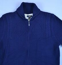 NWT Club Room Men Sweater Jacket Blue Cable Knit Sizes Zipper Shawl Lined m-57