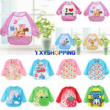 Baby Toddler Boy Girl Waterproof Long Sleeve Bibs Apron Waterproof Feeding Smock