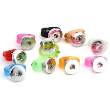 wholesales Snaps 10 Colors Silicone Adjustable Ring 18mm Button Jewelry SR18-12