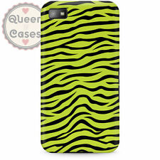 Zebra Print Bright Green Phone Case for BlackBerry fits Q10 Z10 Bold Curve Torch