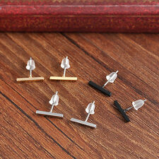 2 Pairs Punk Women Tiny Bar Fashion Earrings Stud Cute Bar Earring Cool Jewelry