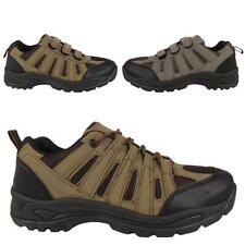 MENS HIKING BOOTS WALKING ANKLE LACE VELCRO TRAIL TREKKING TRAINERS SHOES SIZE