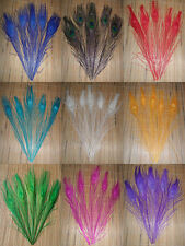 """Wholesale, 10-100 PC dyed the peacock tail feathers around 10 - 12 inches """""""