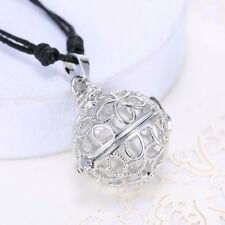 New Women Jewelry Ball Pendant Silver Cage Angel Chime Sounds Pregnancy Necklace