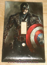 Captain America Light Switch Power Duplex Outlet Cover Plate Home Decor