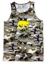 NW Men's Printed BEER? deer bear Funny Hipster Camo Camouflage Army GYM Tank Top