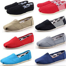 Summer Women Mens Glitter Slip-on Casual Flats Solid Canvas Leisure Loafer Shoes