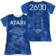 ATARI INSIDE OUT Licensed Sublimation Women's Junior Tee Shirt SM-2XL F/B