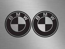 2 x BMW Badge logos Car Vinyl Race Decals Stickers Door, Windows M3 M5 M6 Sport