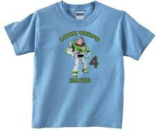 Toy Story Buzz Lightyear Personalized Custom Birthday Shirt in 8 Different Color
