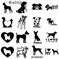 Cute Dog Funny Reflective Car Stickers and Decals Vinyl car stickers 7""