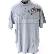 KTM MENS GREY GRAPHIC POLO SHIRT SMALL, MEDIUM