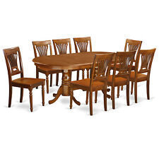 PLAI9-SBR 9 Piece Dining Room Set-dining room table & 8 chairs for dining room