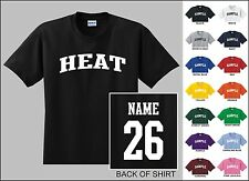 Heat Custom Name & Number Personalized Basketball Youth Jersey T-shirt