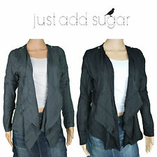 Just Add Sugar Womens Throw On Georgia Open Front Long Sleeve Winter Cardigan