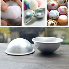 3D Aluminum Ball Sphere Bath Bomb Mold Cake Pan Tin Baking Pastry Mould New