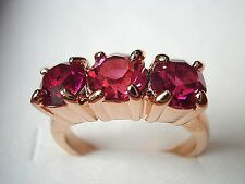 Cheapest new listing lady ruby& champagne sapphire cz 10kt rose gold filled ring