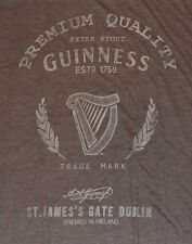 Guinness Extra Stout T-Shirt Brewed Ireland Irish Beer Official License Guinness