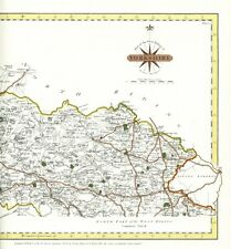 Print of Cary Antique Map of Yorkshire West Riding Otley Skipton Settle Ripon