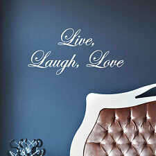 Live, Laugh, Love - Vinyl Wall Art Decals Quote Home Decor