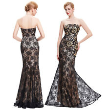 Vintage Long Evening Prom Gown Sequined Formal Bridesmaid Cocktail Party Dress