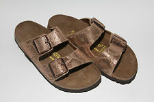 Papillio by Birkenstock Leather ARIZONA $179rp Royal Python Brown 38 Narrow BNWT