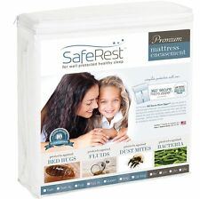 "15""- 18"" SafeRest Premium Waterproof Zippered Bed Bug Proof Mattress Encasement"